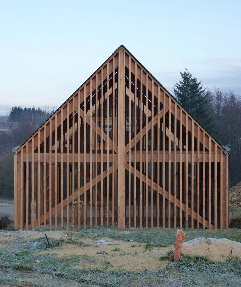 rvl architectes grange contemporaine pignon ajour re2 pinterest grange contemporaine. Black Bedroom Furniture Sets. Home Design Ideas
