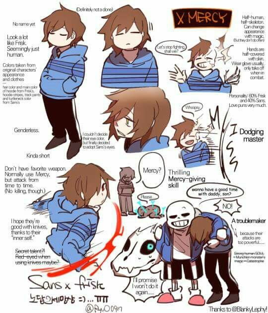 Child of Sans and Frisk?) | Undertale | Frisk fanart, Sans