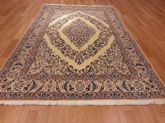 7360 4x6 Nain Persian Hand Knotted Wool and Silk by CharlesDana