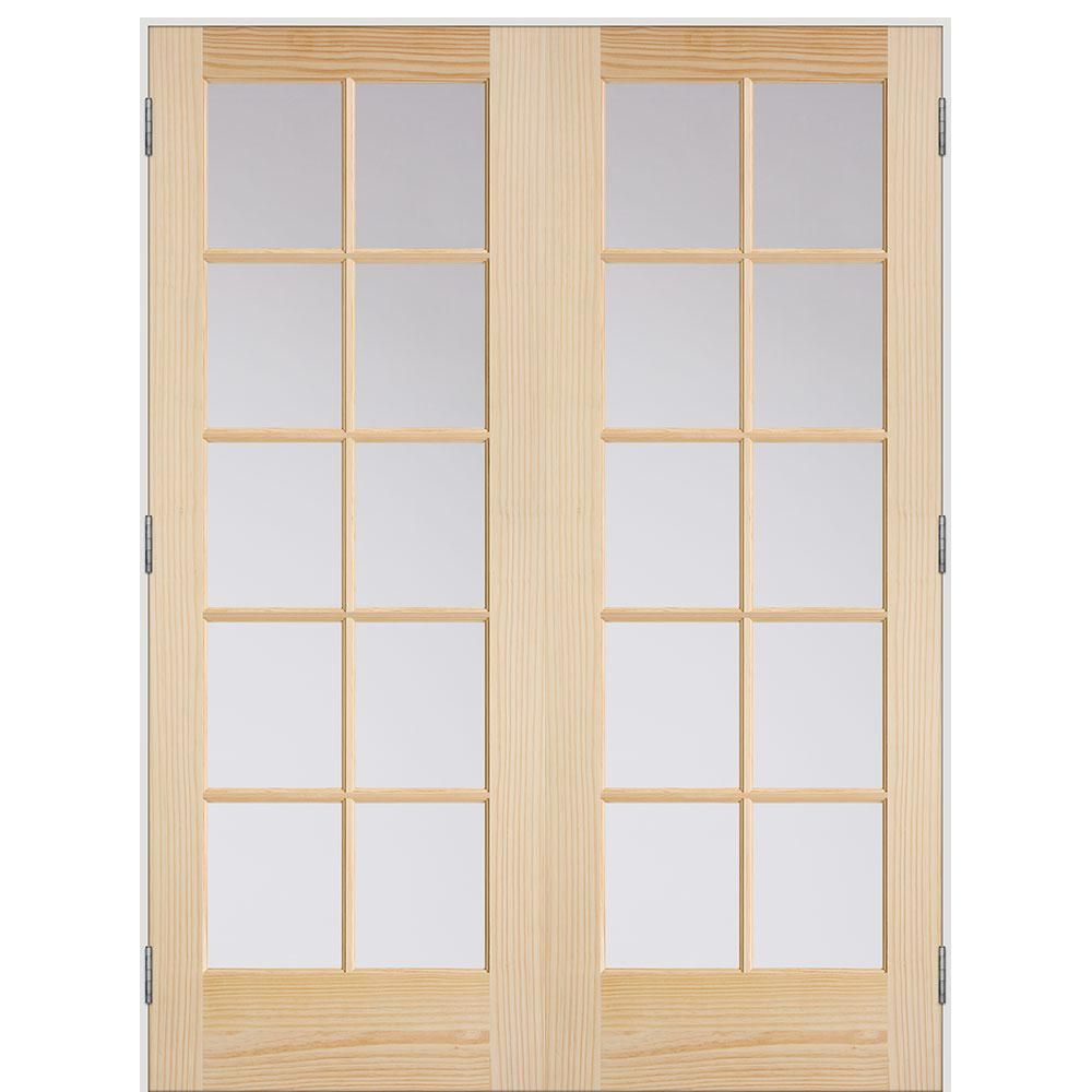 Masonite 48 In X 80 In Smooth 10 Lite Hollow Core Unfinished Pine Prehung Interio Prehung Interior French Doors French Doors Interior Masonite Interior Doors