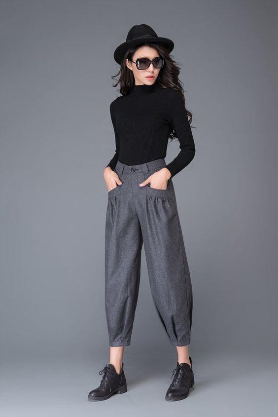 50 pantalons court femme hiver 2018 style pinterest. Black Bedroom Furniture Sets. Home Design Ideas