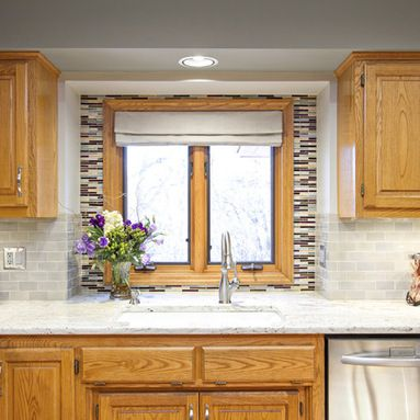 White Kitchen Oak Cabinets paint colors for kitchens with oak cabinets design ideas, pictures