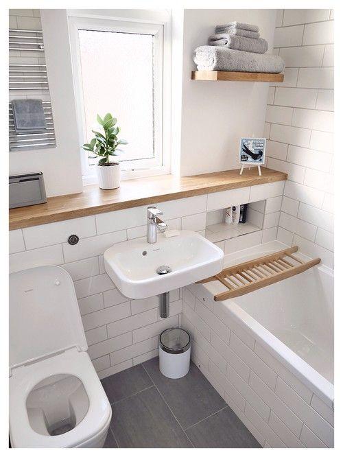 Szurke g stezimmer pinterest badezimmer b der und for Schmales badezimmer ideen