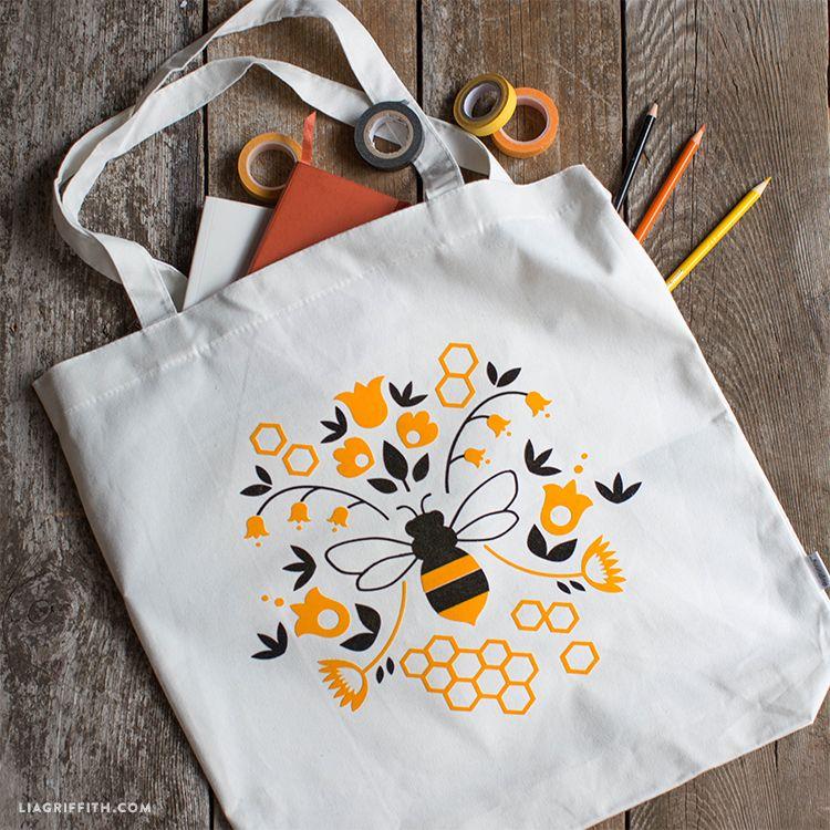 Honey Bee Tote Bag | Bordado, Costura y Patrones