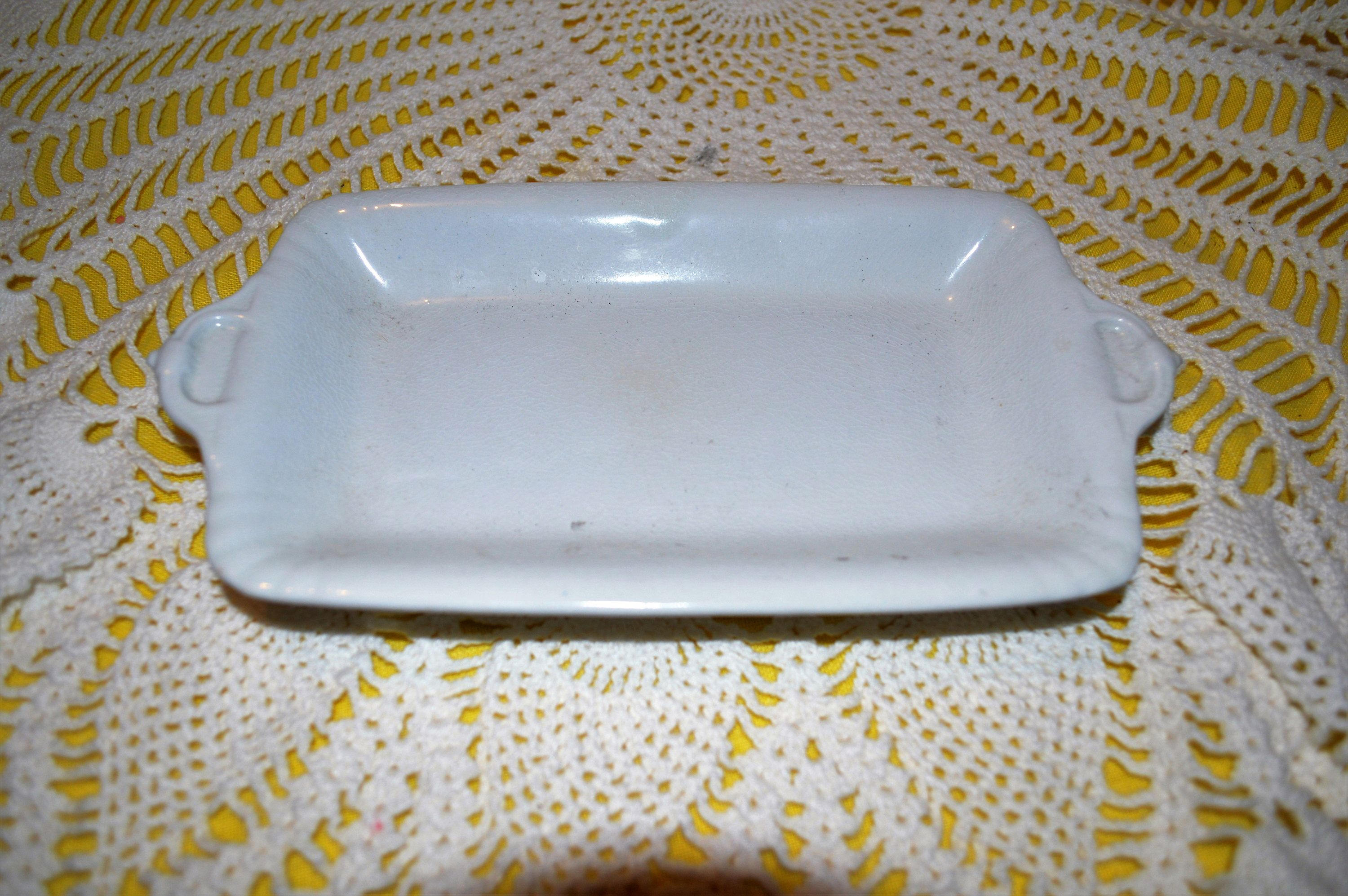 Antique Ironstone Soap dish/butter dish Bishop and Powell of England ...