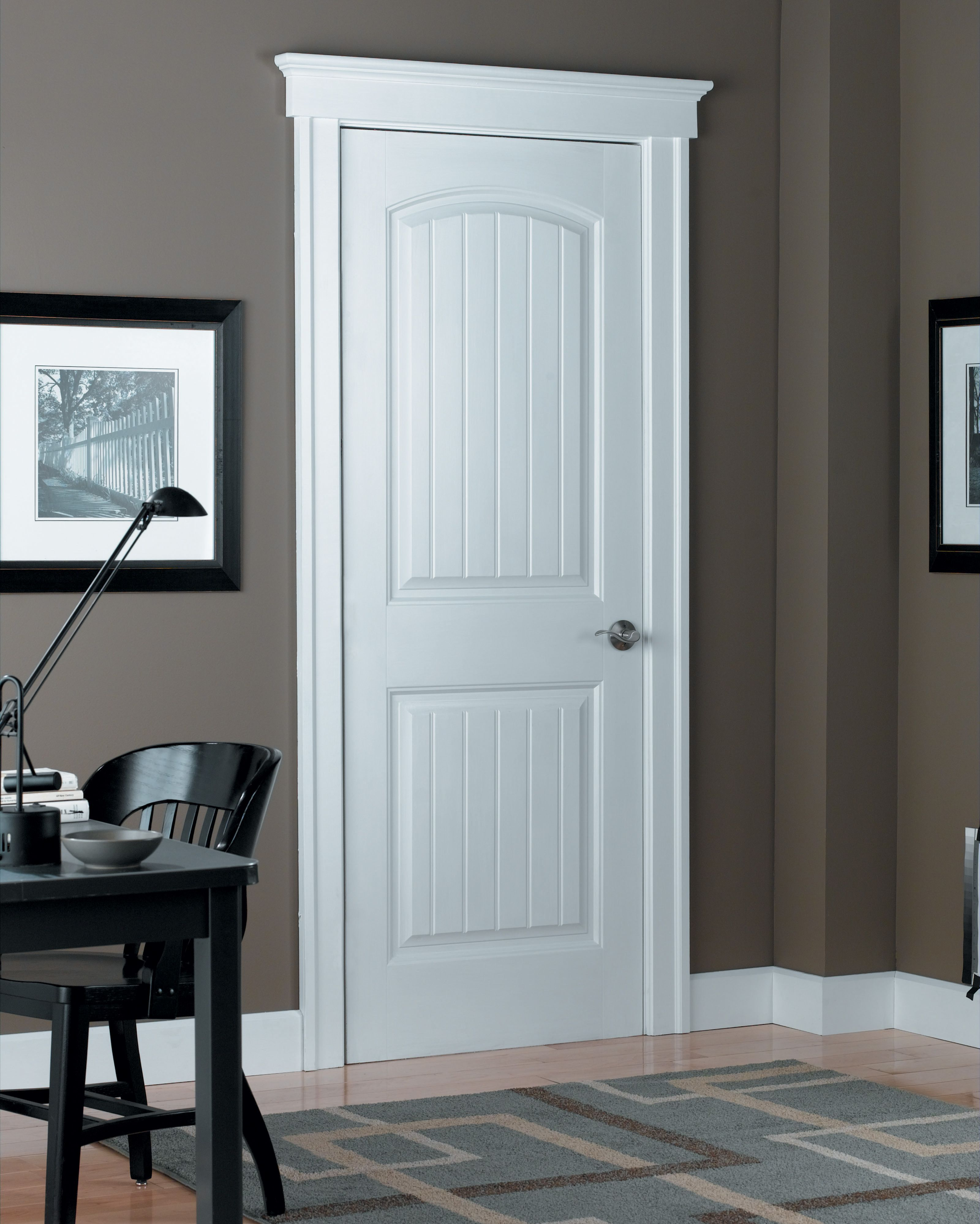 Craftsman Style Home Office Featuring Masonite Select Series