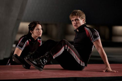 """hunger-games-catching-fire-2013: """" Katniss and Peeta in training MovieLaLa """""""