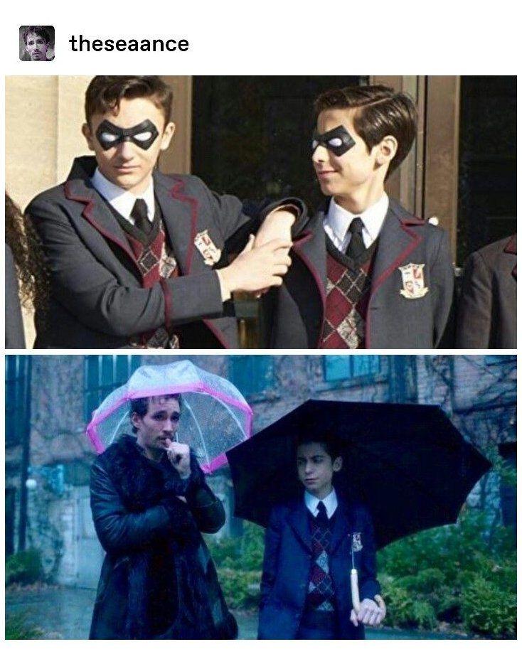 Umbrella Academy Klaus And 5 Klaus And Five Funny Umbrella Umbrella Funny Memes