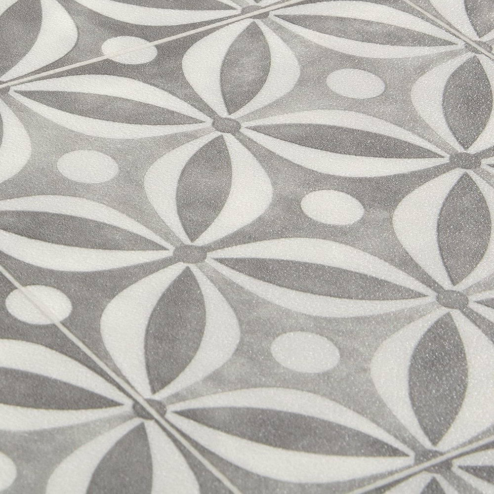 Details about Cement Tile Effect Sheet Vinyl Flooring