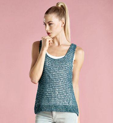 tricot debardeur femme