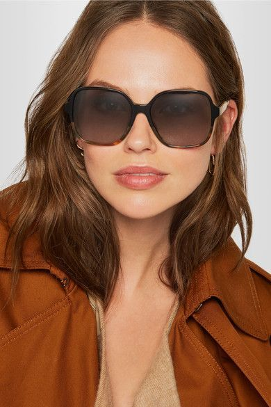 2072990d10 Victoria Beckham - Oversized Square-frame Acetate Sunglasses - Tortoiseshell