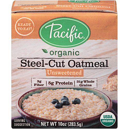 Pacific Foods Organic Unsweetened SteelCut Oatmeal 10Ounce Boxes Pack of 12 ** Want additional info? Click on the image. Note: It's an affiliate link to Amazon.