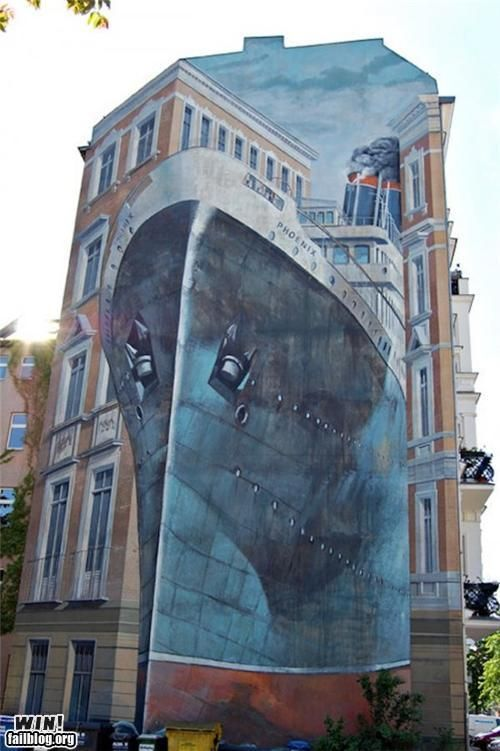 Illusion building art