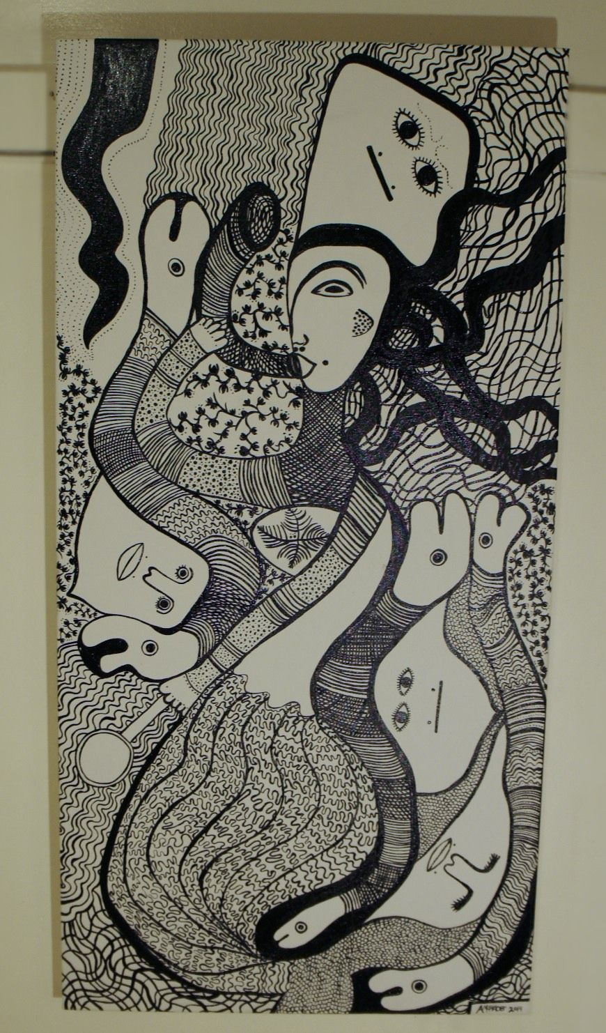 Mermaid   La Sirene Haitian-saint-soleil inspired art by Amanacer, 2014.