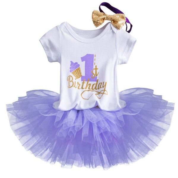 Details about  /Birthday Dress First Year Baby Girl Unicorn Outfit Princess Tutu 1st