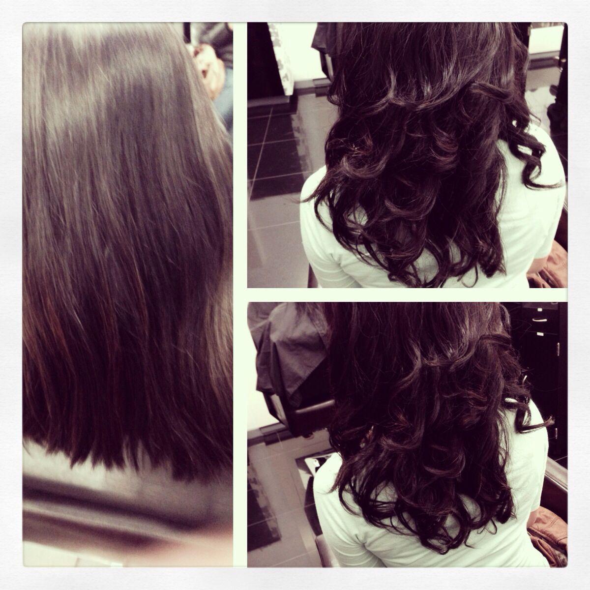 Digital Perm On Corse Thick Hair At Sune Salon San Francisco Www Mysune Com Thick Hair Styles Digital Perm Hair