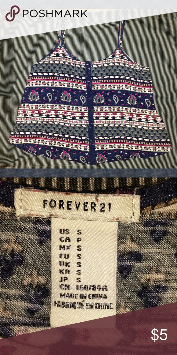 Forever 21 Swing Tank Cute red white and blue paisley swing tank. Slightly cropped. PLEASE consider bundling to get more BANG for your buck! Forever 21 Tops Tank Tops