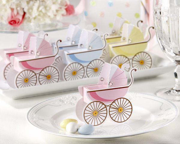 Cochecito De Bebe Con Confites Como Souvenirs De Baby Shower   Manualidades  Para Baby Shower