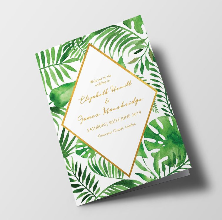 Personalised Wedding Order of Service Day Cover  Booklet Venue Photo Church