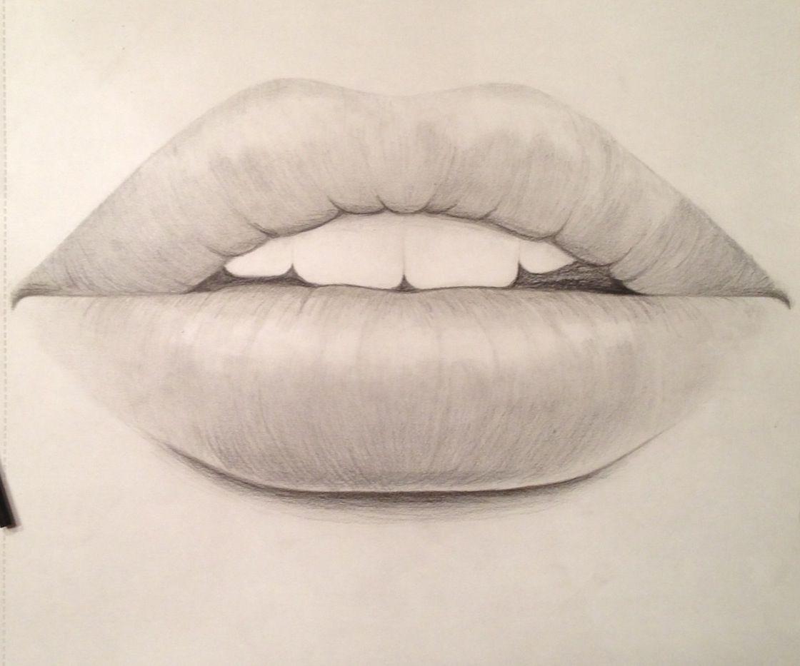 Drawing Of Realistic Lips Artsy Drawings Realistic Drawings