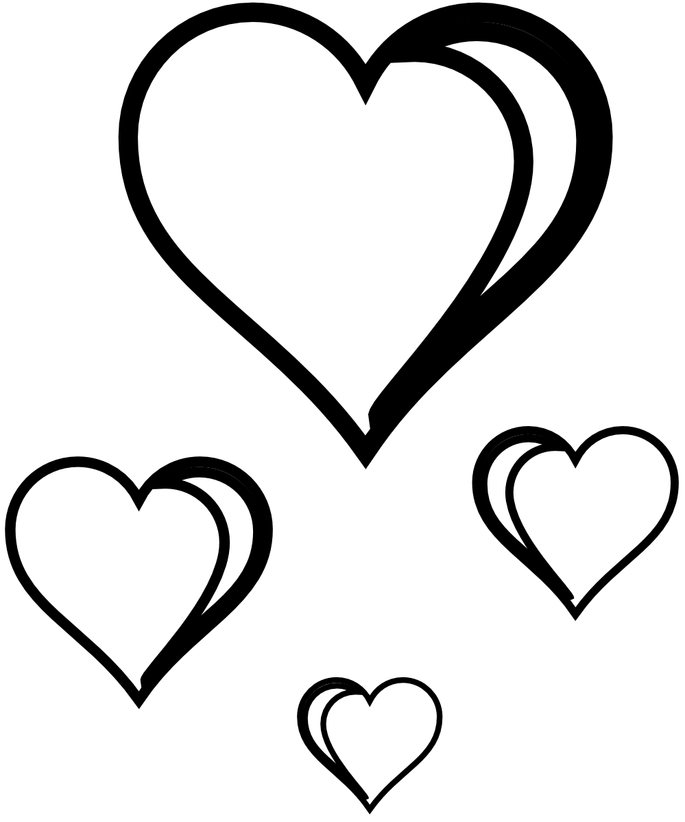 49++ Black and white clipart heart ideas