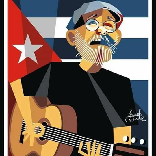 Silvio Rodríguez Ilustraciones Póster De Cine Leyendas De La Música