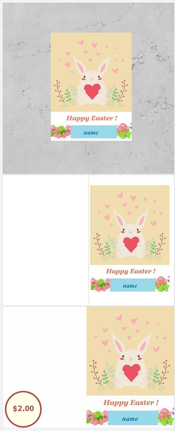 Digital card clipart rabbit Easter gifts Holiday decor Digital ...