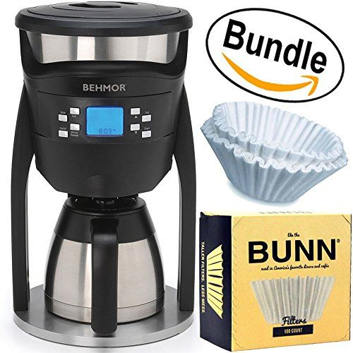 Behmor Brazen Plus Temperature Control Coffee Maker Brew System Bunn Bcf100b 100count Basket Filter Industrial Coffee Maker Coffee Maker Coffee Shop Business
