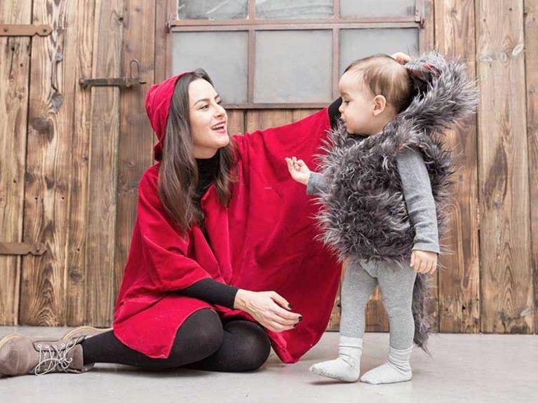 DIY-Anleitung: Mutter-Kind-Kostüm nähen: Rotkäppchen und der Wolf ...