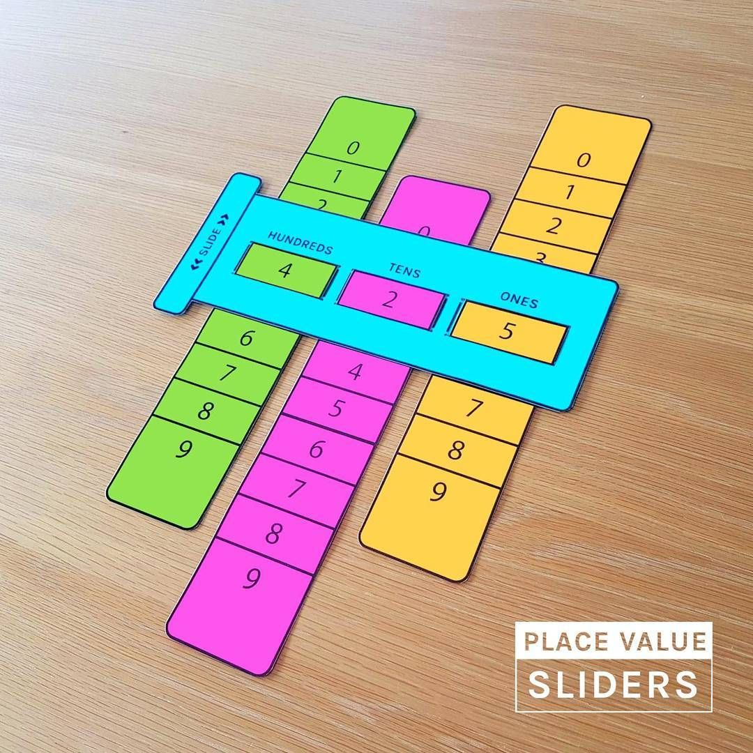 Place Value Sliders Math Placevalue Learningaid Math Methods Math For Kids Math Projects [ 1080 x 1080 Pixel ]