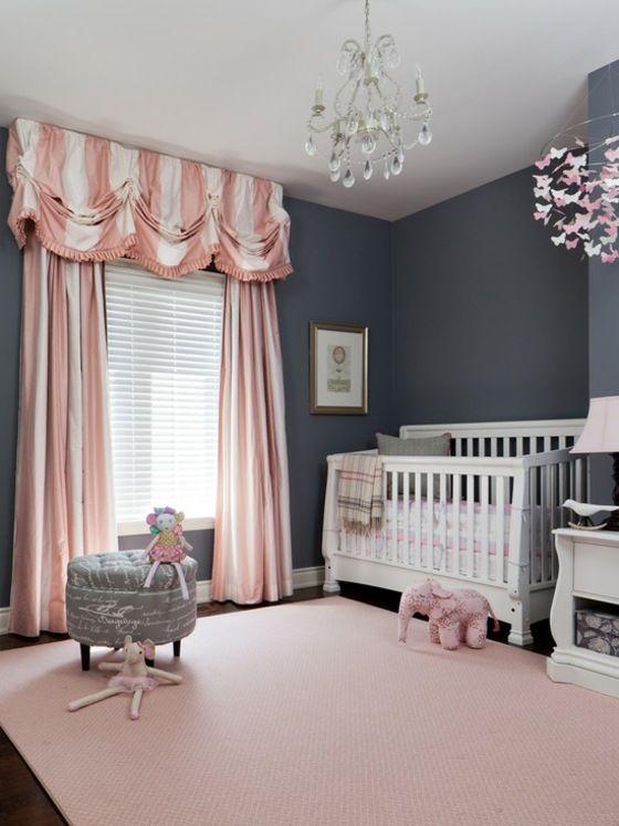 Déco chambre bébé fille en gris: pourquoi pas !