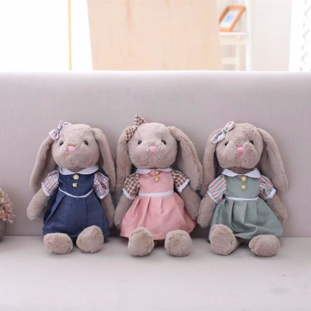 30cca60584ce Miaoowa 1pc 35cm Cartoon Rabbit Plush Toys with Skirt Soft Stuffed ...