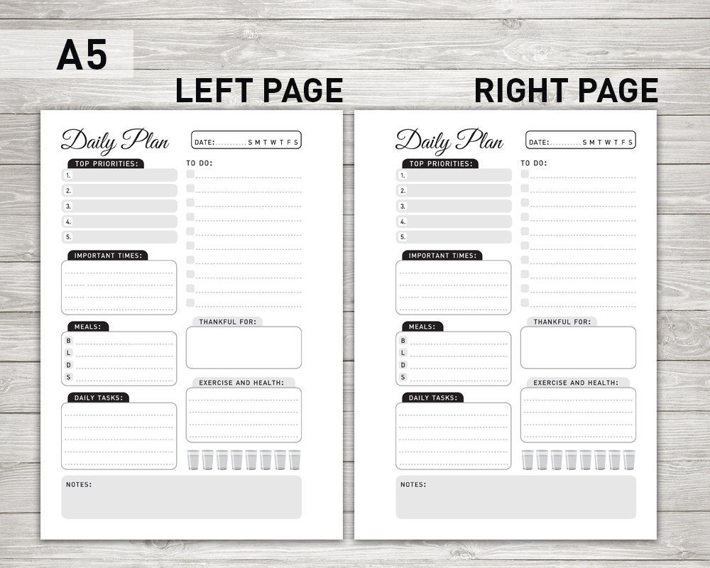 daily planner printable daily to do list day organizer daily