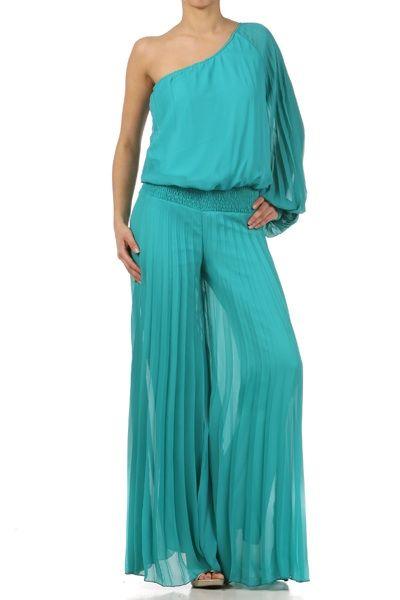 Palaxo verde Esmeralda, muy elegante | Ropa, Moda y Vestidos
