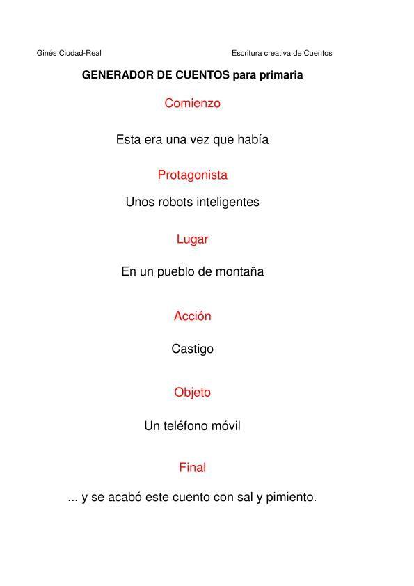 Cuentos Primaria  Lenguaje Espaol Gramtica