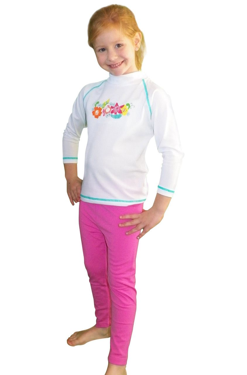 259b7760 Solartex Sun Gear - Girls Long Sleeve Swim Shirt and Tights Set, $54.90  (http