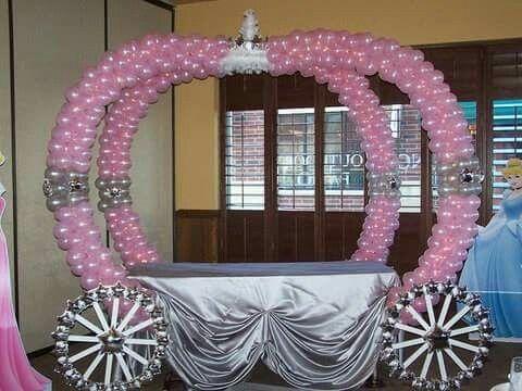 Cinderella Balloon Table Decoration