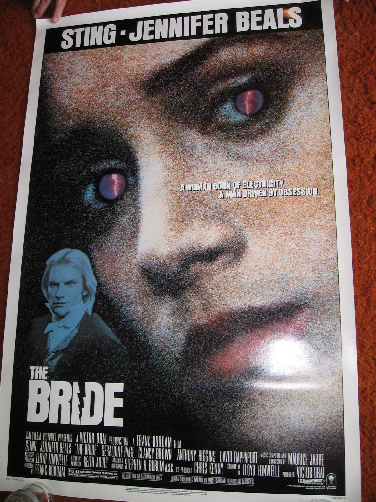 The Bride Original Movie Poster 1985 Rolled Sting Jennifer