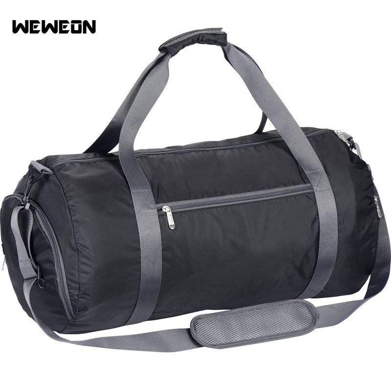 bb272b14aa Large Capacity 23 inches Gym Bag Sports Bag Women Foldable Nylon Waterproof Sports  Duffel Bag Fitness
