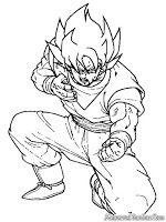 Mewarnai Dragon Ball Z Dengan Gambar Warna Gambar