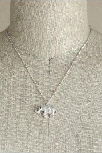 Elephant Charm Necklace   shopgofish.com