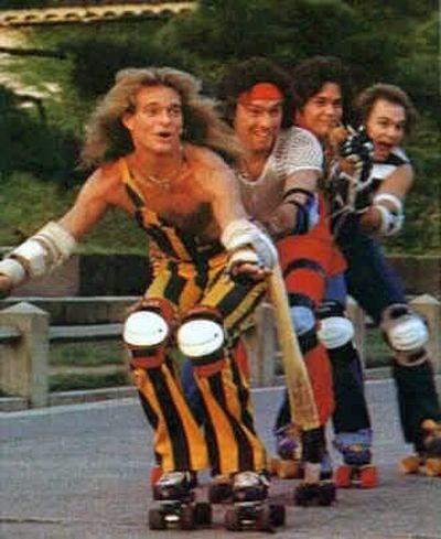 70s stars on roller skates - David Lee Roth Van Halen
