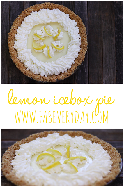 Cool Summer Treat Lemon Icebox Pie Recipe With Eagle Brand Sweetened Condensed Milk Fab Everyday Lemon Icebox Pie Icebox Pie Yummy Sweets