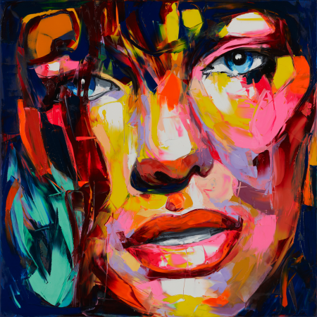 Francoise Nielly #683   In 2 days this will be on the wall in my living room - can't wait!