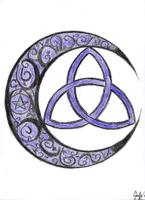 a9299a9d2 Cresent Triquetra by IrisChiyoko.deviantart.com on @deviantART Butterfly  Wrist Tattoo, Moon