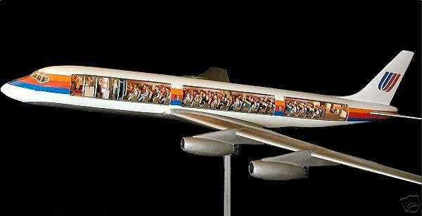 United Dc 8 Cutaway Model From Phil Montejano S Cutaway