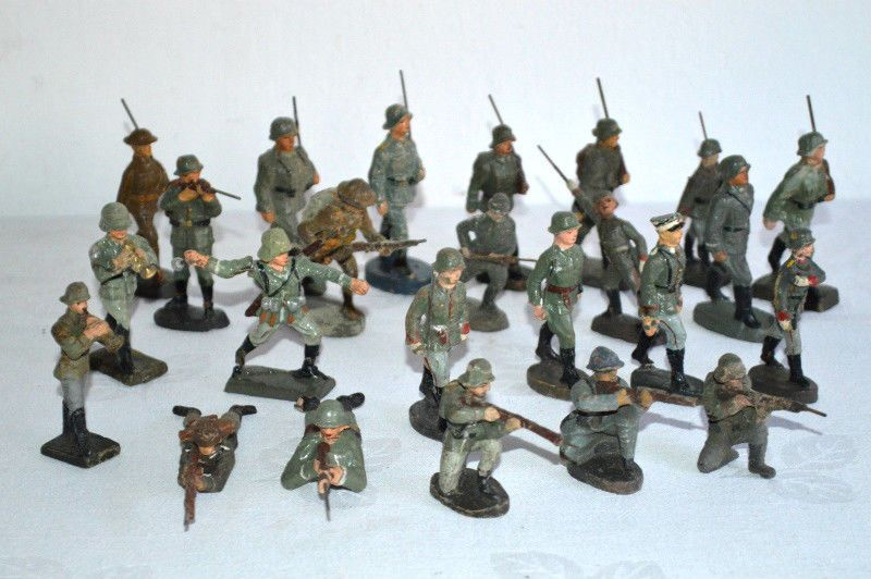 Originale Elastolin Lineol Militär-Massefiguren marschierende Soldaten 250 | eBay