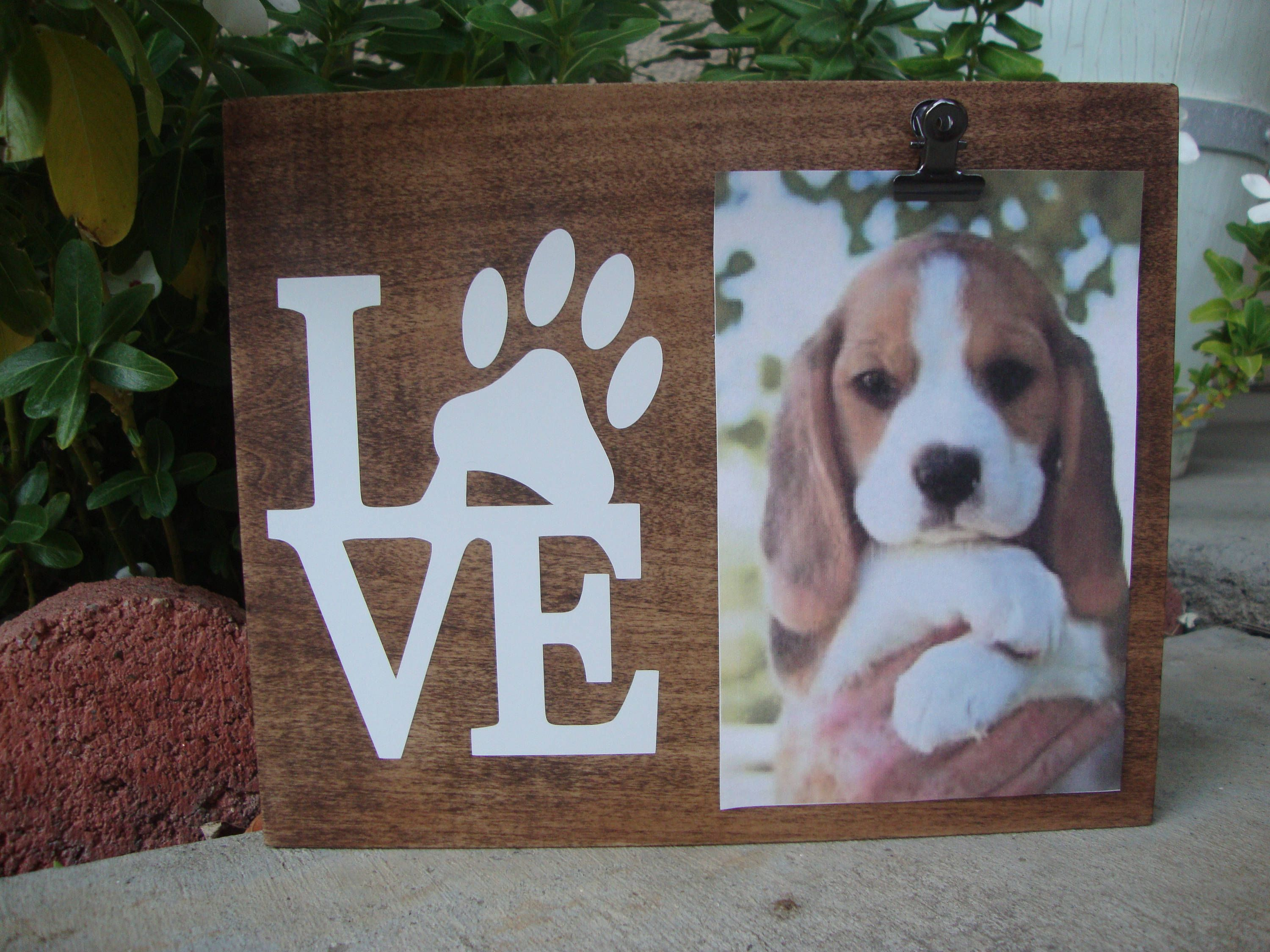 dog picture frame paw print picture frame dog lover gift love paw frame - Dog Frame