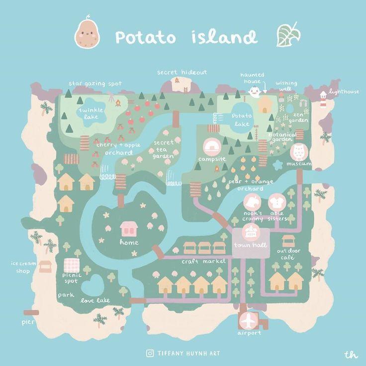 Animal Crossing New Horizons Map ; Animal Crossing New