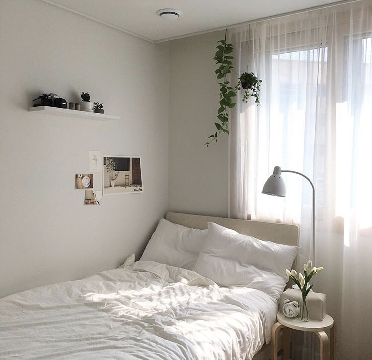 White And Black Aesthetic Room